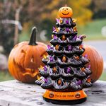 Halloween Colored lights Christmas Tree-Handcrafted and Hand Painted