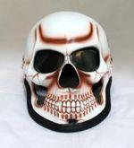 Motorcycle helmet airbrush skull model handmade Halloween mask customization