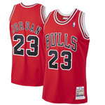 Michael Jordan Chicago Bulls Mitchell & Ness 1997-98 Hardwood Classics Player Jersey - Red