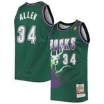 Ray Allen Milwaukee Bucks Mitchell & Ness 1996 Hardwood Classics Jersey - Green