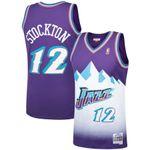 John Stockton Utah Jazz Mitchell & Ness 1996-97 Hardwood Classics Swingman Player Jersey - Purple