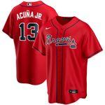 Ronald Acuna Jr. Atlanta Braves Nike Alternate 2020 Replica Player Jersey - Red