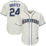 Ken Griffey Jr. Seattle Mariners Majestic Alternate Official Cool Base Replica Player Jersey - Cream