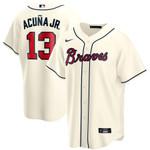 Ronald Acuna Jr. Atlanta Braves Nike Alternate 2020 Replica Player Jersey - Cream