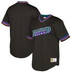 Arizona Diamondbacks Mitchell And Ness Big And Tall Cooperstown Collection Mesh Wordmark V-Neck Jersey - Black