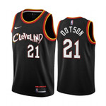 Damyean Dotson Cleveland Cavaliers 2020-21 Black City Jersey