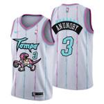 2021 Toronto Raptors Tampa City #3 OG Anunoby Jersey White