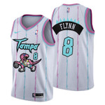2021 Toronto Raptors Tampa City #8 Malachi Flynn Jersey White