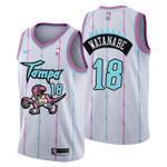 2021 Toronto Raptors Tampa City #18 Yuta Watanabe Jersey White