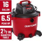 16 Gallon 6.5 Peak HP Wet/Dry Vac, Heavy-Duty Shop Vacuum with Attachments & CMXZVBE38660 2-1/2 in. Muffler Diffuser Wet/Dry Vac Attachment