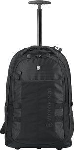 "Sport Wheeled Cadet Backpack with Pass Thru Sleeve, Black, 20.9"""