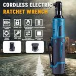 """Cordless Ratchet Wrench Set, 3/8"""" 400 RPM 12V Power Electric Ratchet Driver with 12 Sockets, Two 2000mAh Lithium-Ion Batteries and 60-Min Fast Charge"""
