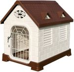 Waterproof Kennel For Small and Medium Dogs, Indoor Plastic kennel for Puppies and Kittens