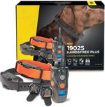 Remote dog training e-collar, ergonomic rechargeable 3/4 mile range, waterproof, high output.