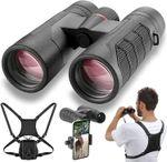 Lightweight waterproof binoculars for bird watching and hunting