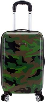 Leopard Print Rolling Luggage Hardside Spinner Carry-On Suitcase 20Inch