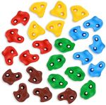 25PCS Rock Climbing Holds for Kids, Large Rock Wall Grips for Play Sets, Swingset - Adult Climbing Rocks with 2 Inch Mounting Hardware for Indoor Outdoor Climbing Wall