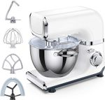 Electric Stand Mixer,  6 Adjustable Speeds Automatic Tilt-Head Mixer with Flex Edge Beater(Bowl Scraper),  4.2 QT Stainless Steel Bowl