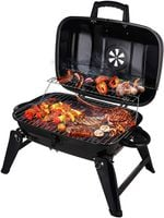 Charcoal Grill Portable Grill Outdoor Cooking & Smoker Folding Tabletop Grills for BBQ Camping Patio Backyard and Anywhere, 18-Inch, Black