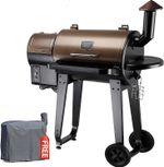 ZPG-450A 2021 Upgrade Wood Pellet Grill & Smoker 6 in 1 BBQ Grill Auto Temperature Control, 450 Sq in Bronze