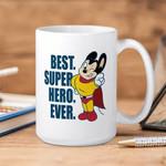 White Mug Mighty Mouse Best Superhero Ever Premium Sublime Ceramic Coffee Mug Y97