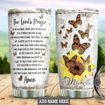 The lords prayer Butterfly Bible Personalized Gift for lover Day Travel Tumbler All Over Print TL97
