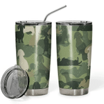 3D Dachshund Camo Gift for lover Day Travel Tumbler All Over Print TL97