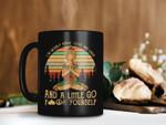 Black Mug Vintage Retro Yoga Girl I'm Mostly Peace Love And Light And A Little Go Fuck Yourself Yoga Coffee Premium Sublime Ceramic Coffee Mug H99