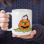 White Mug Peanuts Day Of The Dead Snoopy Pumpkin Premium Sublime Ceramic Coffee Mug Y97