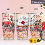 Nurse Under God Personalized Gift for lover Day Travel Tumbler All Over Print TL97