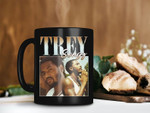 Black Mug Retro Vintage Mug Trey Songz Mug Tremaine Aldon Neverson Mug RnB Ballad Mug Rap Hip Hop Mug Premium Sublime Ceramic Coffee Mug H99
