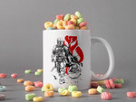 White Mug Boba Fett And Baby Yoda In Comic Mug Star Wars Gift The Mandalorian Gift Baby Yoda Lover Premium Sublime Ceramic Coffee Mug H99