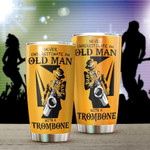 Never Underestimate A Man With A Trumbone Gift for lover Day Travel Tumbler All Over Print TL97