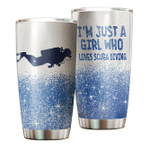 Scuba Diving Im just a girl who loves Scuba Diving 8 Gift for lover Day Travel Tumbler All Over Print TL97