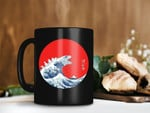 Black Mug Godzilla In The Great Wave Off Kanagawa Art Mug Godzilla vs Kong Mug Retro Vintage Mug Premium Sublime Ceramic Coffee Mug H99