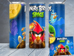 Angry Birds Space games 872 gift for lover Skinny Tumbler TL97