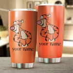 Customized Orange Tiger winnie the pooh Gift for lover Day Travel Tumbler All Over Print TL97