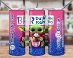 Baskin Robbins Baby Yoda  790 gift for lover Skinny Tumbler TL97