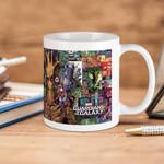 White Mug Marvel Comics Groot Rocket Comic Guardians Of The Galaxy Premium Sublime Ceramic Coffee Mug Y97