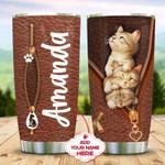 Custom name Shorthair Best Cat Lover Gift for lover Day Travel Tumbler All Over Print TL97