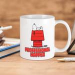 White Mug Snoopy Peanuts Professional Napper Premium Sublime Ceramic Coffee Mug Y97