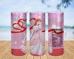Disney Princess Aurora cartoon A188 gift for lover Skinny Tumbler TL97