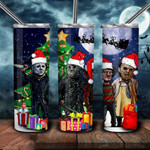 Merry Christmas Teams family Horror movies 302 gift for lover Skinny Tumbler TL97