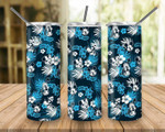 Mickey Mouse Tropical Trees 802 gift for lover Skinny Tumbler TL97