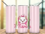 Marie Cute Cat pink A6868 gift for lover Skinny Tumbler TL97