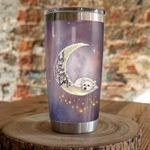Sugar Skull Cat i love you to the moon  Gift for lover Day Travel Tumbler All Over Print TL97