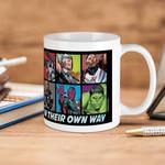 White Mug Marvel Avengers Everyone Is Super In Their Own Way Premium Sublime Ceramic Coffee Mug Y97
