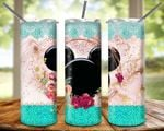 Floral Mickey Mouse make colorful disney 6 cartoon gift for lover Skinny Tumbler TL97