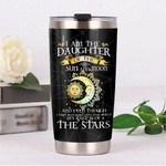 Personalized Hippie Im The Daughter Of The Sun And Moon Gift for lover Day Travel Tumbler All Over Print TL97