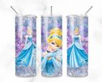 Cinderella Princess disney 344 gift for lover Skinny Tumbler TL97